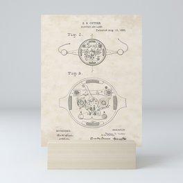 Electric Arc Lamp Vintage Patent Hand Drawing Mini Art Print