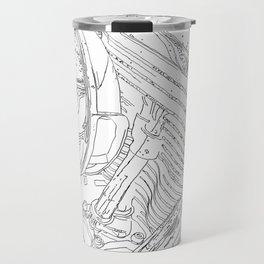 cycle motor, drawing Travel Mug
