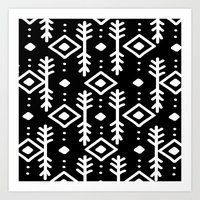 nordic Art Prints featuring BLACK NORDIC by Nika