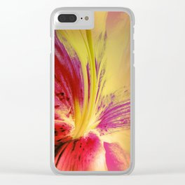 Abstract Of The Lily Clear iPhone Case
