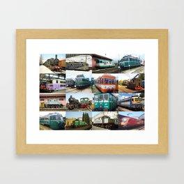 Train Locomotives Framed Art Print