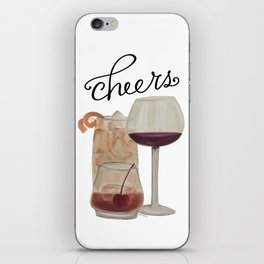 Cheers - Dark Drinks iPhone Skin