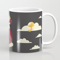snoopy Mugs featuring Snoopy - Red Baron by Ricardo A.