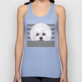 Hand painting Bichon illustration Unisex Tank Top