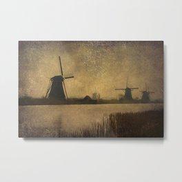 Kinderdijk Metal Print