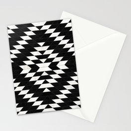 Urban Tribal Pattern 14 - Aztec - Black Concrete Stationery Cards