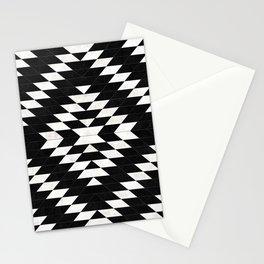 Urban Tribal Pattern No.14 - Aztec - Black Concrete Stationery Cards