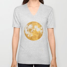 Gold Moon Unisex V-Neck