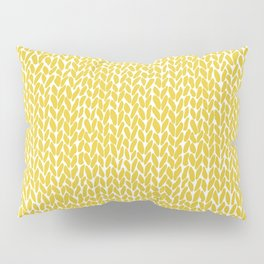 Hand Knit Yellow Pillow Sham