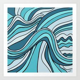 Ocean Waves Of Chaos Art Print