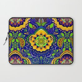 Bono Fantasy Pattern Yellow and Blue Laptop Sleeve