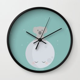To the Moon and back Wall Clock