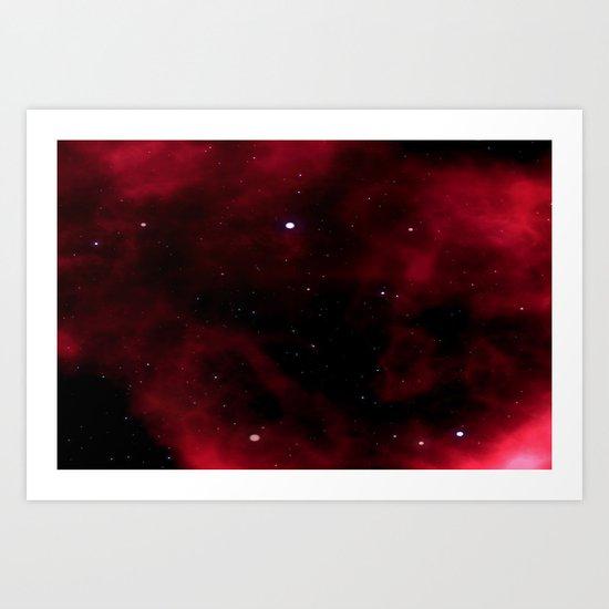 Nebula Red Art Print