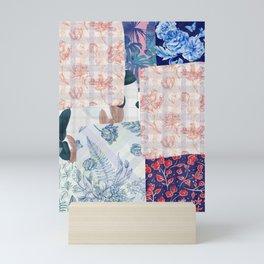 Vintage Floral Quilt  Mini Art Print
