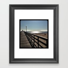 Pier. Framed Art Print