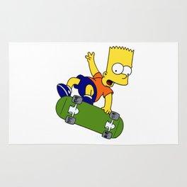 bart simpson skateboard Rug