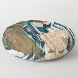 The Ancestors of Tehamana by Paul Gauguin Floor Pillow