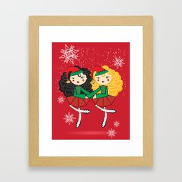 Lil Dancer '2 Hand Elves' Framed Art Print