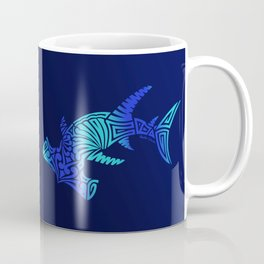 Ombre Blues Hammerhead Coffee Mug