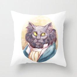 Gentleman Cat Throw Pillow