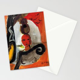 Girl and Violin Stationery Cards