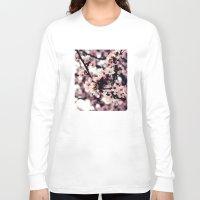cherry blossom Long Sleeve T-shirts featuring Cherry blossom by JoanaRosaC
