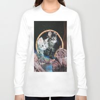 kitty Long Sleeve T-shirts featuring Kitty by John Turck