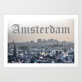 Amsterdam City View Art Print