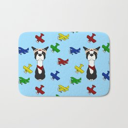 Bobble Pilot Boston Terrier Bath Mat
