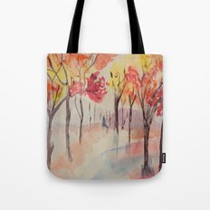 Autumn Trees Watercolour Tote Bag