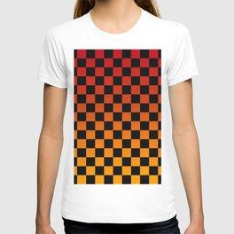Chessboard Gradient V T-shirt