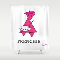 frenchie Shower Curtains featuring FRENCHIE by Tim Breitzmann