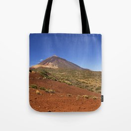 Mount Teide peak on Tenerife above the clouds Tote Bag