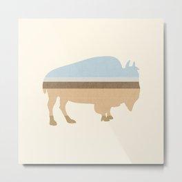 Buffalo on the Plain Metal Print