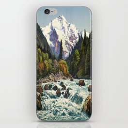 Mountains Forest Rocky River iPhone Skin