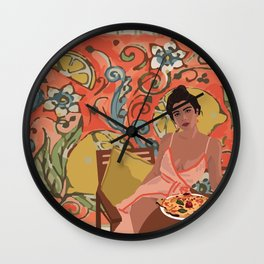 LEMON LADY Wall Clock