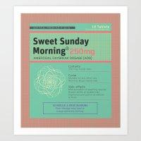 Sweet Sunday Morning Poster Series - 1 Art Print
