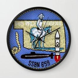 USS WILL ROGERS (SSBN-659) PATCH Wall Clock