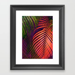 COLORFUL TROPICAL LEAVES no1 Framed Art Print