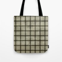 plaid Tote Bags featuring Plaid by Joanne Anderson