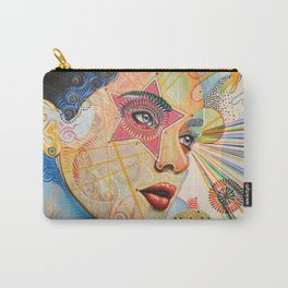 Abstract Art Female Women Portrait Painting ...Honestly Speaking Carry-All Pouch