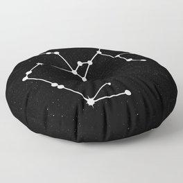 SAGITTARIUS (BLACK & WHITE) Floor Pillow
