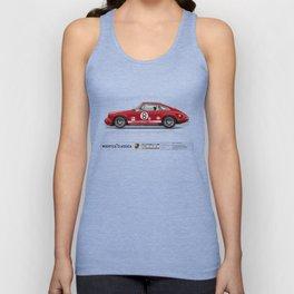1968 Porsche 911L Factory Race Car Unisex Tank Top