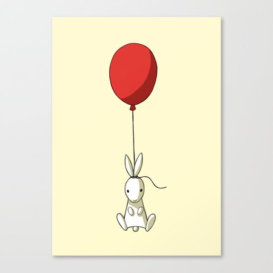 Balloon Bunny Canvas Print