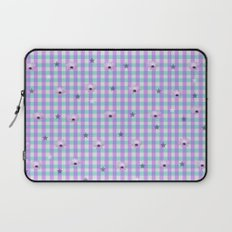 Gingham flowers Laptop Sleeve