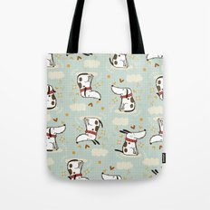 DOGGY IN THE SKY Tote Bag
