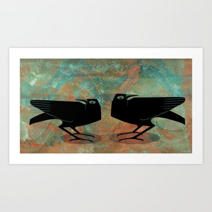 Odin's Ravens Huginn and Muninn Kunstdrucke