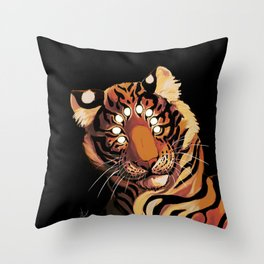Do Not Give In to Despair (orange burn) Throw Pillow