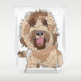 Doodle Love Shower Curtain