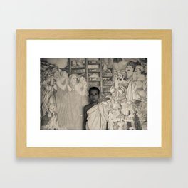Young Monk Framed Art Print